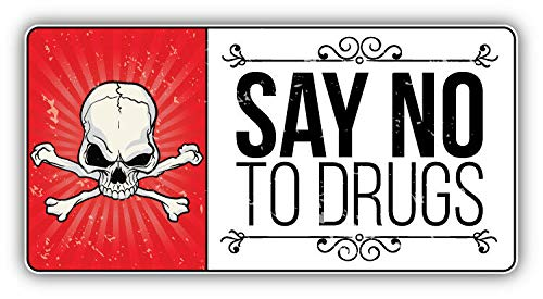 KW Vinyl Anti Drug Grunge Slogan Say No to Drugs Truck Car Window Bumper Sticker Decal 5