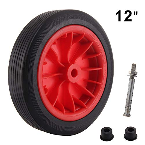 """12 /"""" SOLID WHEELBARROW WHEEL SOLID TYRE NO MORE PUNCTURES REPLACEMENT"""