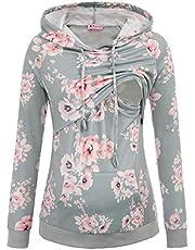 Maternity Nursing Top Sweatshirt Long Sleeve Patchwork Pullover Tops