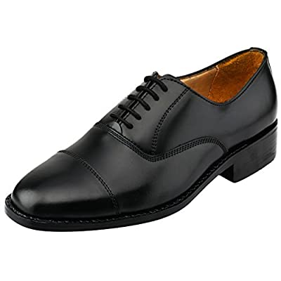 Lethato Captoe Oxford Goodyear Welted Formal Handmade Leather Dress Shoes   Oxfords