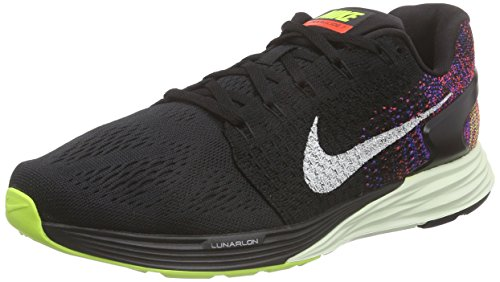Nike Men's Lunarglide 7 Running Shoes (10 D(M) US, Black/Sail/Bright Crimson/Volt)