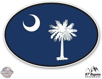 Texas State Flag Oval Vinyl Sticker Waterproof Decal