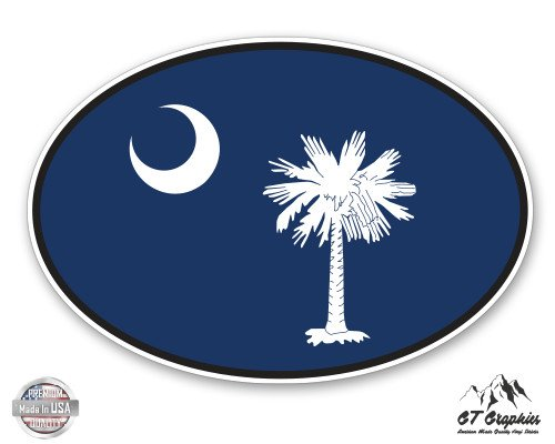 South Carolina State Flag Oval - 5
