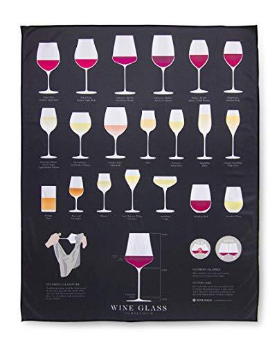 "Wine Folly - Extra Large Wine Glass Polishing Cloth (22"" x 28"")"
