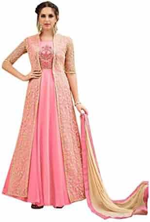 9488069778 Stylish Party Wear Net Long Jacket Robe Suit Salwar Kameez Muslim Women  Punjabi Indian Dress 8099