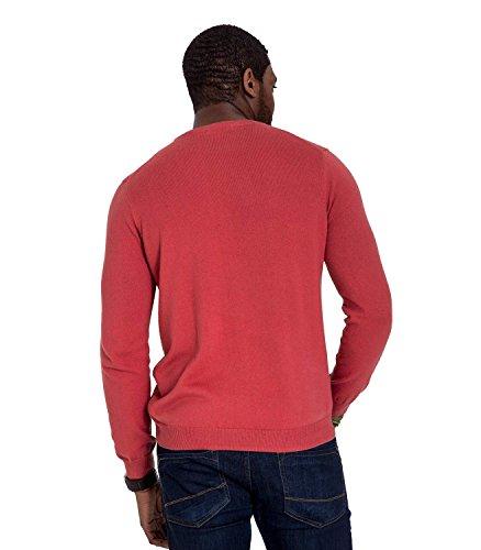 WoolOvers Pullover mit Rundhalsausschnitt aus Baumwolle-Kaschmirwolle für Herren Russet Red, L
