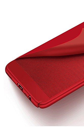 Funda Oneplus 5,Alta Calidad Ultra Slim Anti-Rasguño y Resistente Huellas Dactilares Totalmente Protectora Caso de Plástico Duro Case,Cuadrícula Disipación de calor Antideslizante Cover B