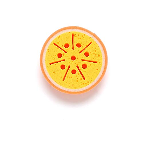 Cute Fruit Kitchen Accessories Dish Washing Brush Bowl Pot Pan Wash Cleaning Brushes Cooking Tool Cleaner Sponges Scouring Pads,orange