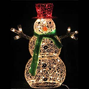 Amazon.com: 32-Inch Lighted Snowman Christmas Lawn ... on Backyard Decorations Amazon id=65568