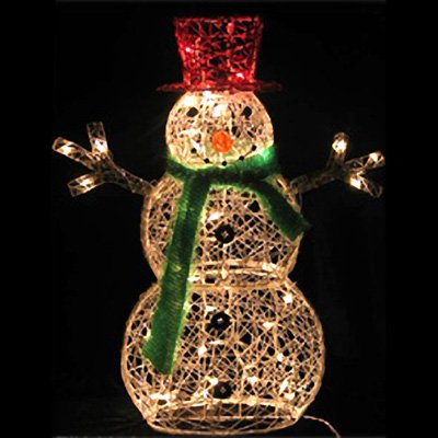32 inch lighted snowman christmas lawn decoration with 50 clear lights - Lighted Christmas Lawn Decorations