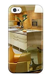 AmandaMichaelFazio Iphone 4/4s Well-designed Hard Case Cover Modern Kitchen And Dining Room With Eco-friendly Wood Panelling Protector
