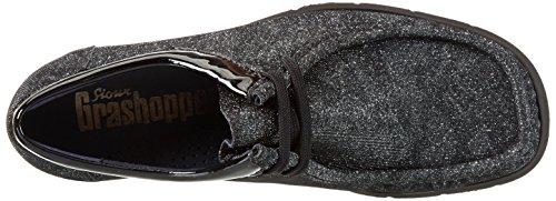 Grau darkgrey schwarz Grash Sioux Gris d162 Mocassins 10 Femme HSc7Hq1OYw
