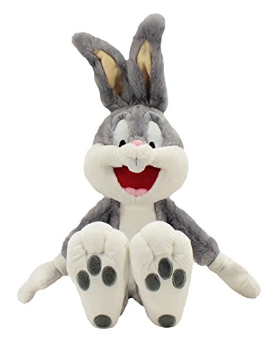 Animal Adventure Iconic Bugs Bunny from Looney Tunes Ultra Soft Plush Toy, Sure to Deliver Laughter and Fun-Great for All Ages, Grey/White, 19