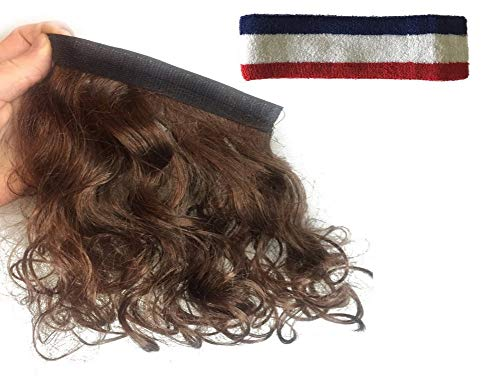 Mullet Headband Multi Purpose Removable Stick On Wig For All Costumes ()