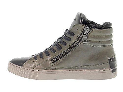 Crime London Hi Top Sneakers Uomo 11337A1783 Pelle Verde