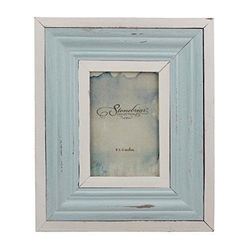 Stonebriar Decorative Wood Frame, Blue and White, Nautical Home ()