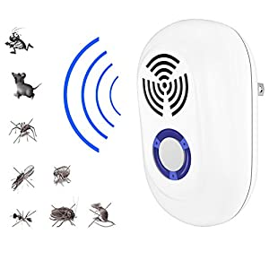 Plug In Ultrasonic Pest Repeller (2 pack) - Squirrel Rodent, Mice Rats Insects Mosquito Repellent Indoor and Outdoor - Get All The Pest Control