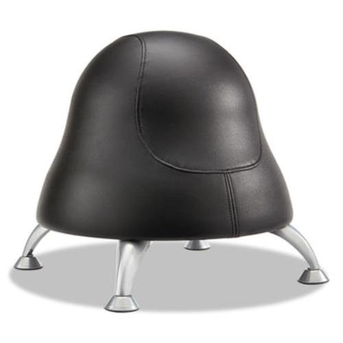Safco Products 4756BV Runtz Ball Chair, Black Vinyl by Safco Products