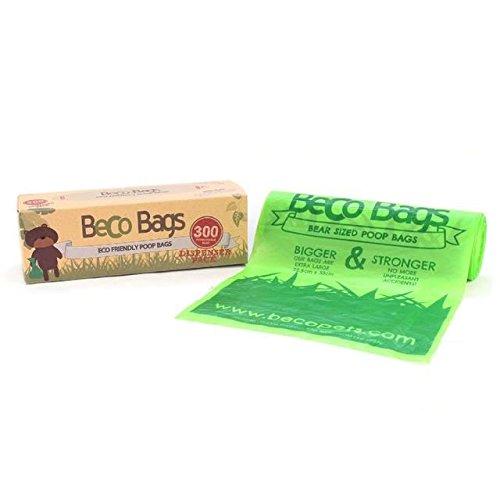 BecoThings Biodegradable Poop Bags Dispenser Roll 300 per pack (PACK OF 2)
