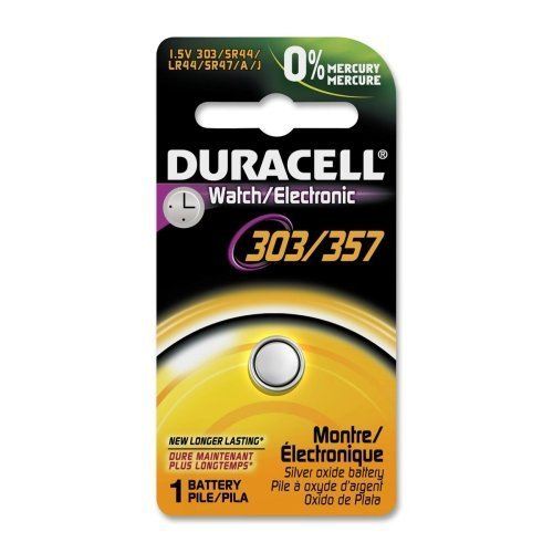 Duracell D303/357PK Silver Oxide Button Cell General Purpose Battery - Silver Oxide - 165mAh - 1.5V DC