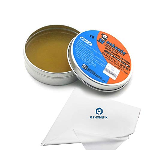 - High Synthetic BGA Solder Paste Tin Rosin-Based Flux Paste Cream Activated Rosin for Circuit Board PCB BGA SMD PGA Repair Soldering Rework Station (80g)