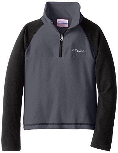 Columbia Little Boys' Glacial Half Zip Fleece Jacket, Graphite, X-Small