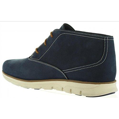 Timberland Mens Bradstreet Plain Toe Chukka Nubuck Boots Blau