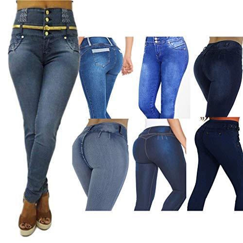 Plusieurs Slim Unie Styles gris Petits Pantalon Pantalons S Femme Sexy Taille Haute Simple Jeans Rise lastiques Fit Bleu 2Xl Couleur Butt Dames Jeans Pieds UHgxdU