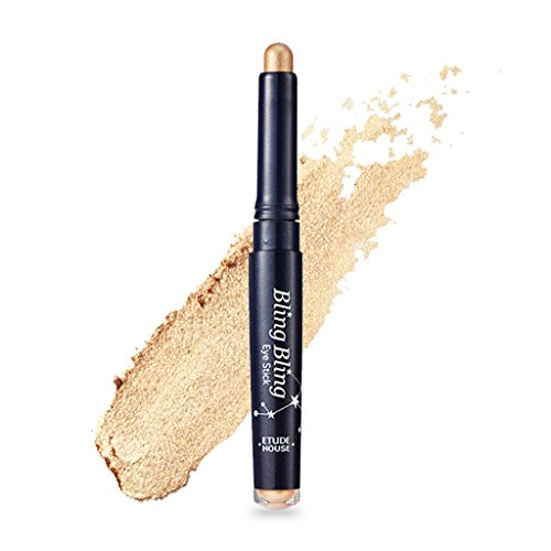 ETUDE HOUSE Bling Bling Eye Sitck 1.4g #9 Gold Star - Smooth & Creamy Eye Shadow Stick with Vibrant Color