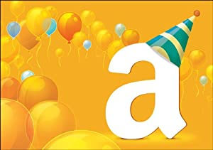 Amazon.com $25 Gift Card in a Greeting Card (Birthday Balloons Card Design)