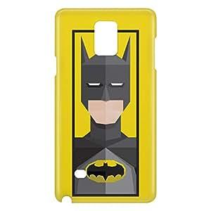 Loud Universe Galaxy Note 4 Batman Triangular Print 3D Wrap Around Case - Yellow/Gray