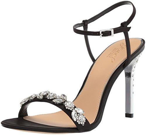 Mischka Badgley Black Sandal Women's Heeled Tex TwZxRqAnZU