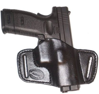 S&W Shield Leather Gun Holster Pro Carry SOB Left Hand Small of Back Black