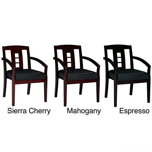 Mayline Mercado Wood (Mayline Mercado Leather/ Wood Ladder-back Guest Chairs (Set of 2) N/A, Espresso Finish)