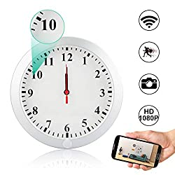 CAMAKT WiFi Hidden Camera Wall Clock Spy Camera, 1080P HD Wireless Digital Nanny Cam with Motion Detection/Loop Recording Cover Security Camera