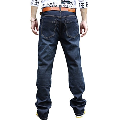 LIYT Mens Retro Loose Straight Jeans Jean Casual Trousers