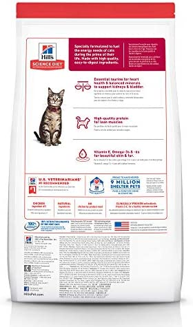 Hill s Science Diet Dry Cat Food, Adult, Chicken Recipe