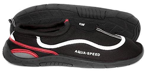 Aquaschuhe Schutz als Meer As24 Strand Rot Speed Badeschuhe Schwarz Weiß Wasserschuhe Aqua Ideale Für Für Füsse See vgW5zWT