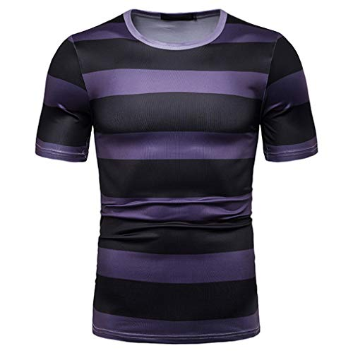 YAYUMI Men's Fashion T-Shirt Personality Painting Large Size Casual Top Blouse Shorts Black ()