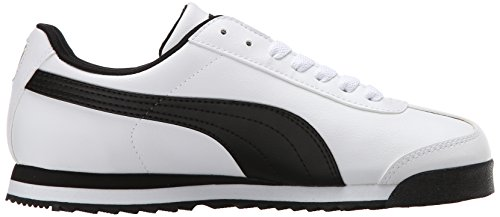 PUMA Herren Roma Basic Sneaker Weiß / Schwarzes Leder