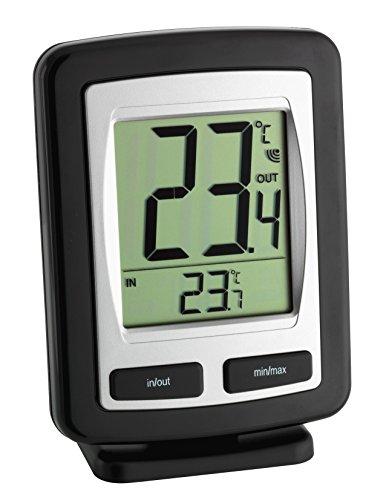 TFA Dostmann Digitales Innen-Außen-Thermometer großes Display Höchst 30.1011