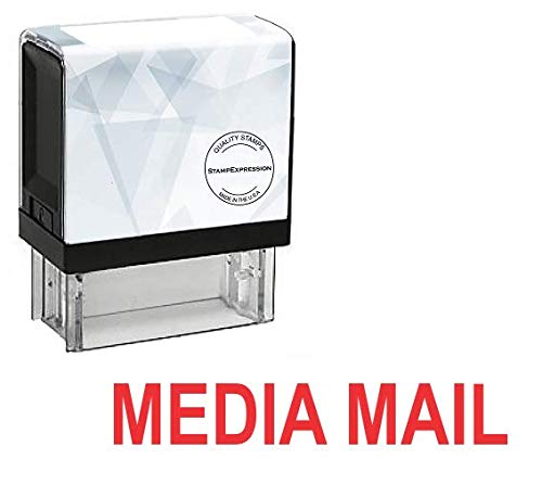 StampExpression - Media Mail Office Self Inking Rubber Stamp - Red Ink (A-5322)