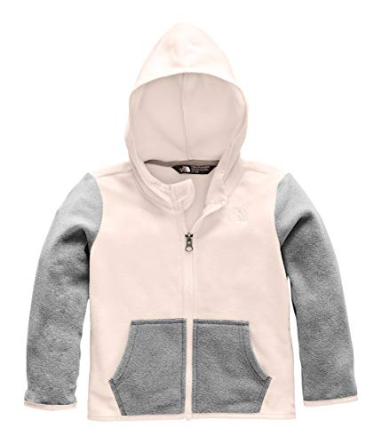 (The North Face Kids Baby Girl's Glacier Full Zip Hoodie (Toddler) Purdy Pink 2T Toddler)