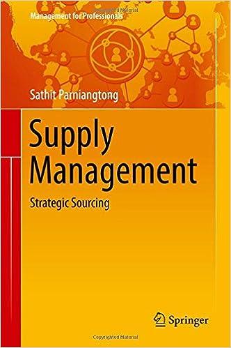 Supply Management: Strategic Sourcing