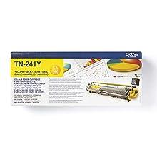 Brother TN241Y - Cartucho de tóner amarillo original para las impresoras HL3140CW, HL3150CDW, HL3170CDW, DCP9015CDW, DCP9020CDW, MFC9330CDW, MFC9140CDN y MFC9340CDW