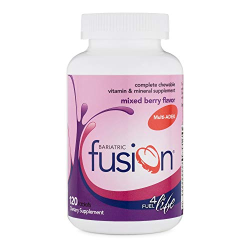 (Bariatric Fusion ADEK Multivitamin & Mineral Supplement Mixed Berry Flavor for Duodenal Switch, 120 Tablets)