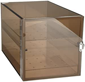 "Bel-Art Scienceware 420650001 Bronze Acrylic Desiccator Cabinet, 9"" Length x 9"" Width x 16"" Height"