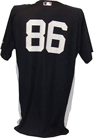 separation shoes faf1e e3371 86 Yankees Game Used Home Navy Spring Training Jersey ...