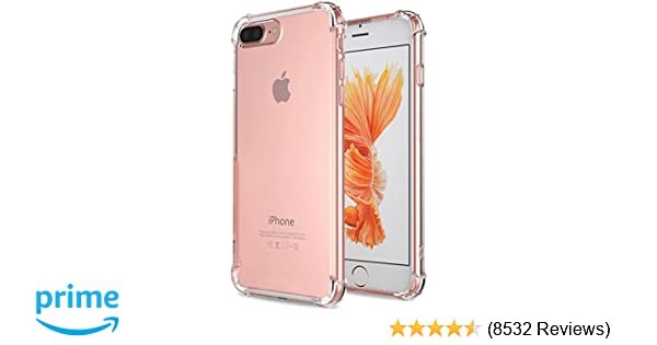 huge selection of 3742e 47b3e for iPhone 7 Plus Case, for iPhone 8 Plus Case, Matone Crystal Clear Shock  Absorption Technology Bumper Soft TPU Cover Case for iPhone 7 Plus ...