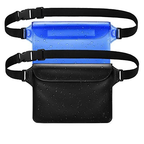 LENPOW Waterproof Dry Bag with Waist Strap, Water Proof Pouch Cases Snowproof Dirtproof Sandproof Case Best Way to Keep Your Phone, Valuables Safe Perfect for Boating Swimming Beach Pool Water ()